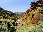 foto of northeast  - Ouzoud River located in the Grand Atlas province of Azilal 150 km northeast of Marrakech Morocco Africa - JPG