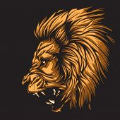 Lion representing Leo zodiac sign or just a sharp vector graphic for general use. Layered and easy t
