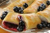 Blueberry Blintzes Closeup