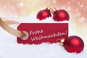 Label With Frohe Weihnachten