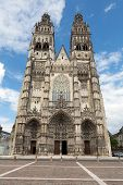 Gothic cathedral of Saint Gatien in Tours Loire Valley France