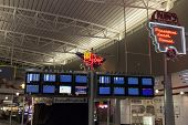Departure And Arrival Monitors At Mccarran Airport In Las Vegas, Nv On July 01, 2013