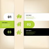 Infographic Design With Eco House Theme