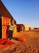 Berber Man On Zagora Desert In Morocco
