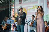 MOSCOW - SEPTEMBER 7: Authentic Light Orchestra performs at Usadba Jazz Festival in Kuskovo Mansion