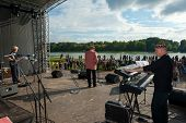 MOSCOW - SEPTEMBER 7: Aleksej Kozlov Arsenal group performs at Usadba Jazz Festival in Kuskovo Mansi