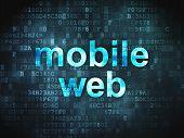 Web design SEO concept: Mobile Web on digital background