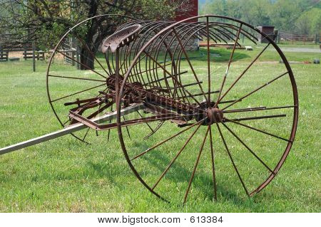 Picture or Photo of Vintage, Rusty farm equipment