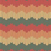 Illustration seamless knitted pattern.