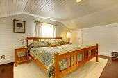 Wood Plank Paneled Bedroom