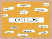 Cash Flow Corkboard Word Concept