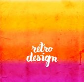 Soft Colored Abstract Background for Design. Vintage Texture. Vector