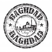 Baghdad grunge rubber stamp