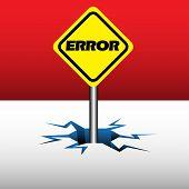 Error plate
