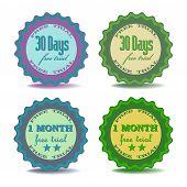Free trial badges