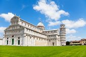 Cathedral And Pisa Leaning Tower