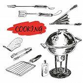 Set of barbecue utensils