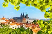 Panorama Of Prague Hrad And Vitas Cathedral