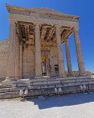 entrance of erechtheion temple Athens Greece