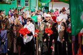 Unidentified Veterans During The Celebration Of Victory Day