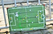 Planning board for tactics in football match
