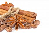Star Anise With Cinnamon And Coffee Seed