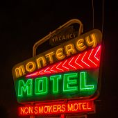 Route 66: Monterey Motel Neon Sign Albuquerque NM