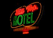 Route 66: Hill Top Motel Neon Sign, Kingman, AZ
