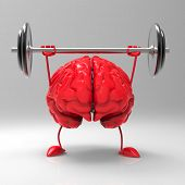foto of weight lifter  - Strong brain - JPG