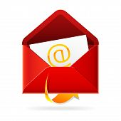 Outbox mails. Vector icon.