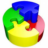 3D Round Jigsaw Puzzle
