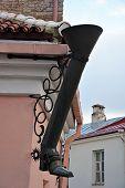 Decorative Boot-shaped Drainpipe. Pikk Jalg Street poster