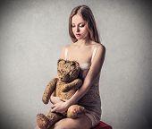 girl with teddybear