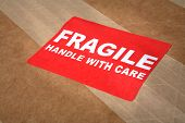 Fragile Sticker on Package