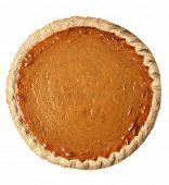 pumpkin pie on white