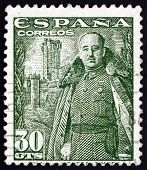 Postage Stamp Spain 1954 General Franco, Caudillo Of Spain