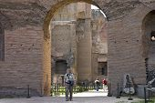 Senior On Visit To Rome Ruins