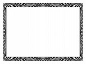 art Deco black ornamental decorative frame