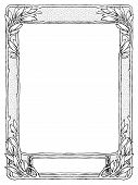frame with laurel for portrait, black isolated