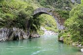 Roman Stone Bridge In Asturias