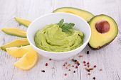 image of avocado  - avocado and guacamole - JPG
