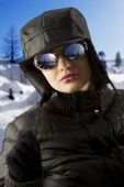 Girl With Black Hat And Sunglasses