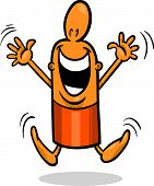 Excited Guy Cartoon Illustration