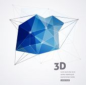 Polygonal geometric, vector 3D printing background