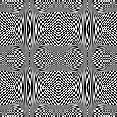 Seamless texture. Geometric op art pattern. Vector art.