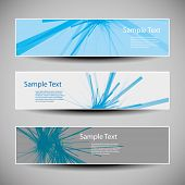 Banner or Cover Design with Blue Abstract Pattern