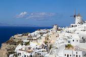 Romantic Oia Village in Santorini Island