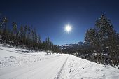image of snowy-road  - Snowy Breckenridge Residential Road - JPG