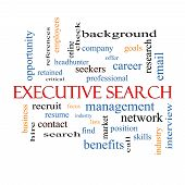 Executive Search Word Cloud Concept