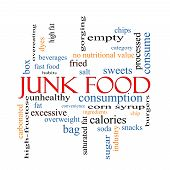Junk Food Word Cloud Concept